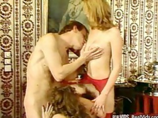 two girls in hot nylons gets drilled